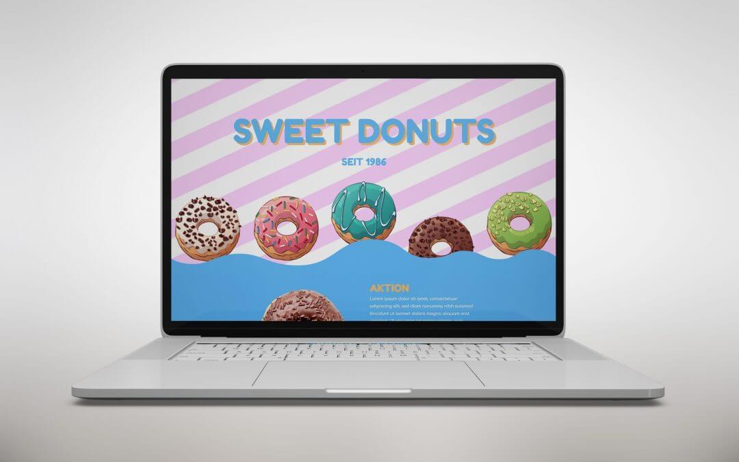 Donut Website Konzept